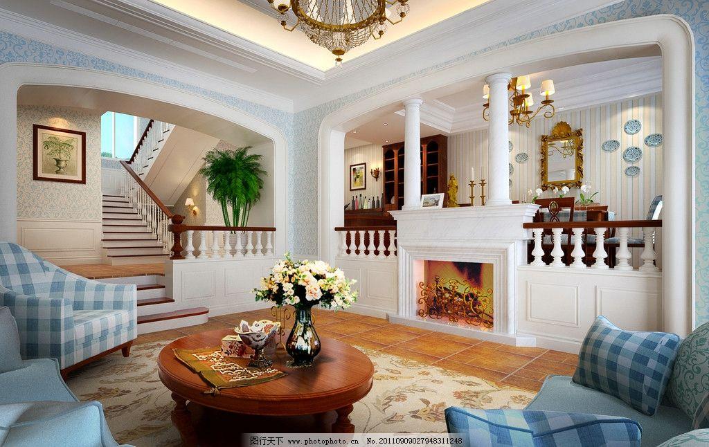 田园风格客厅图片_室内设计