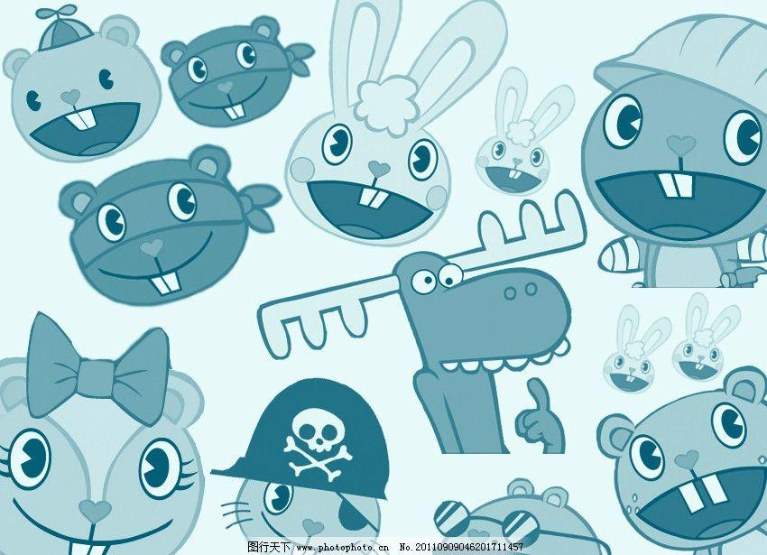 可爱卡通 卡通头像      卡通 大板牙 兔子 门牙 动画 笔刷 特效笔刷