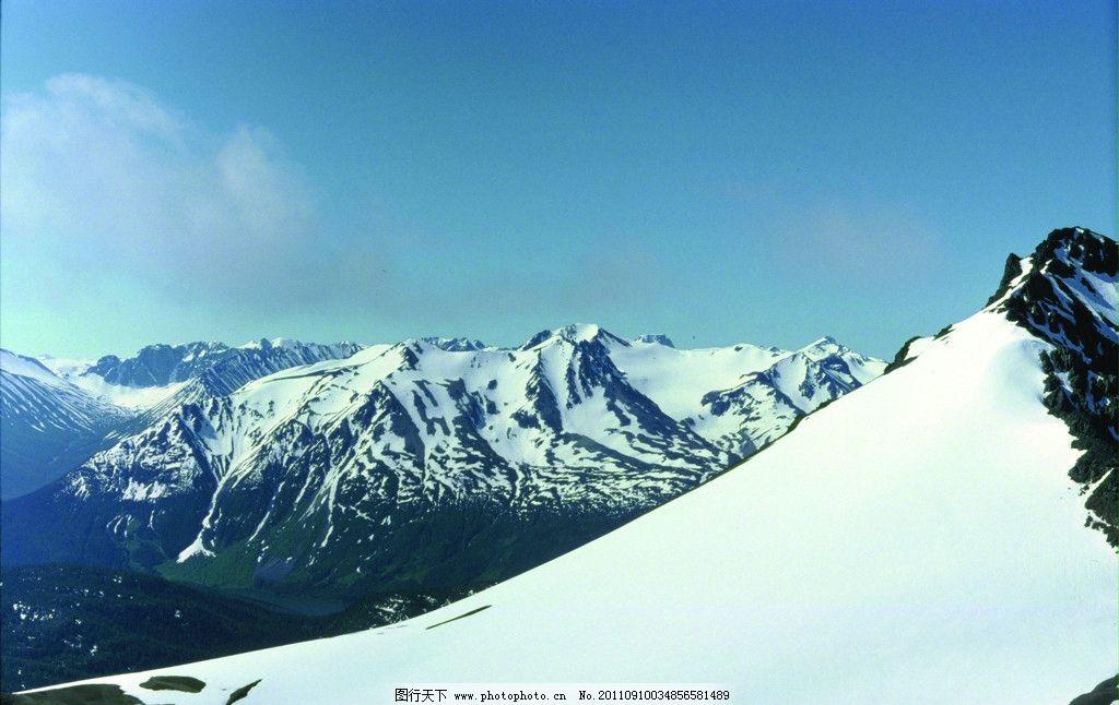冰雪世界 雪山风景图片
