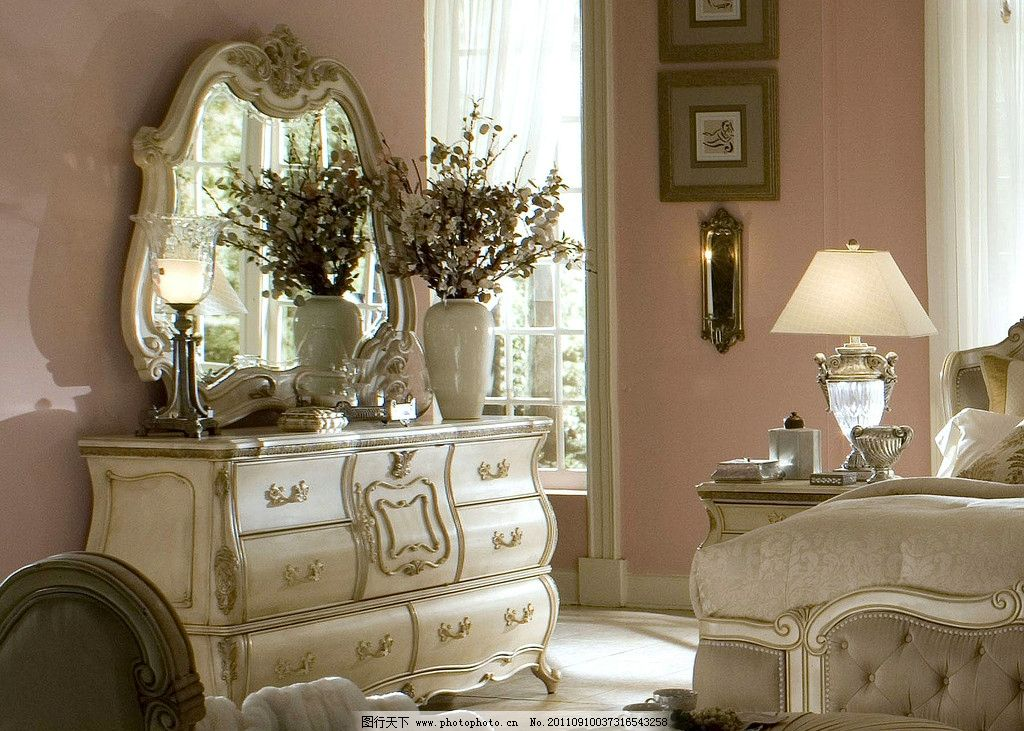 梳妆台 欧式家具 实木家具 欧式窗帘 温馨家具 套房系列 家居艺术