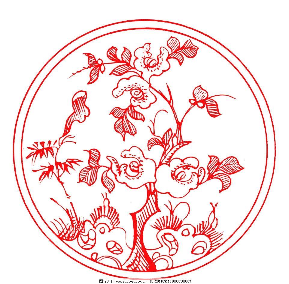 中国设计 吉祥图案 古典图案 古典纹样 剪纸 春节 窗花 纹样 边框图案