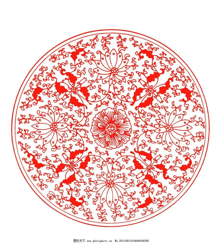 传统古典图案 中国红 红色 中国设计 吉祥图案 古典图案 古典纹样