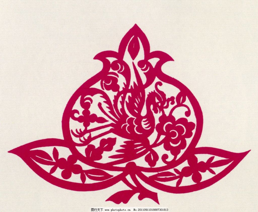 凤凰牡丹 凤凰 牡丹 凤穿牡丹 中国传统图案 图案 中国设计 剪纸 中国