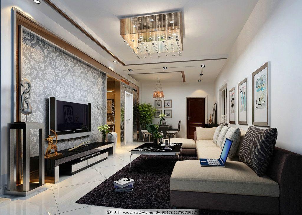 客厅效果图             欧式风格 吊顶 室内设计 环境设计 设计 300