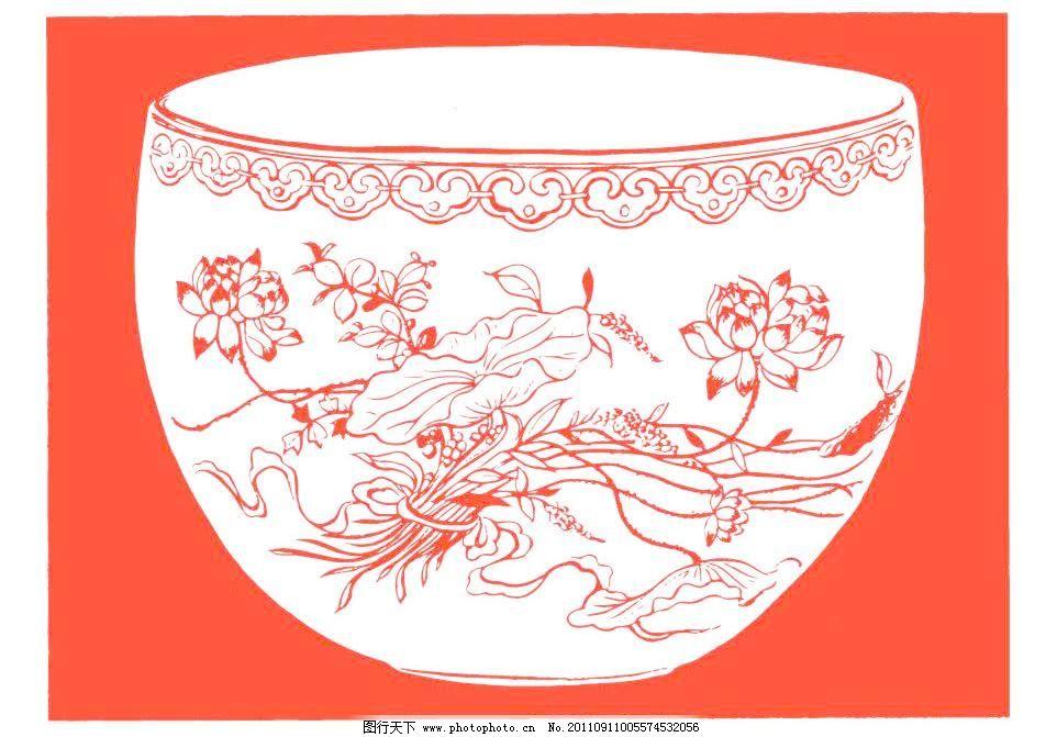 红色 中国设计 吉祥图案 古典图案 古典纹样 剪纸 春节 纹样 边框图案