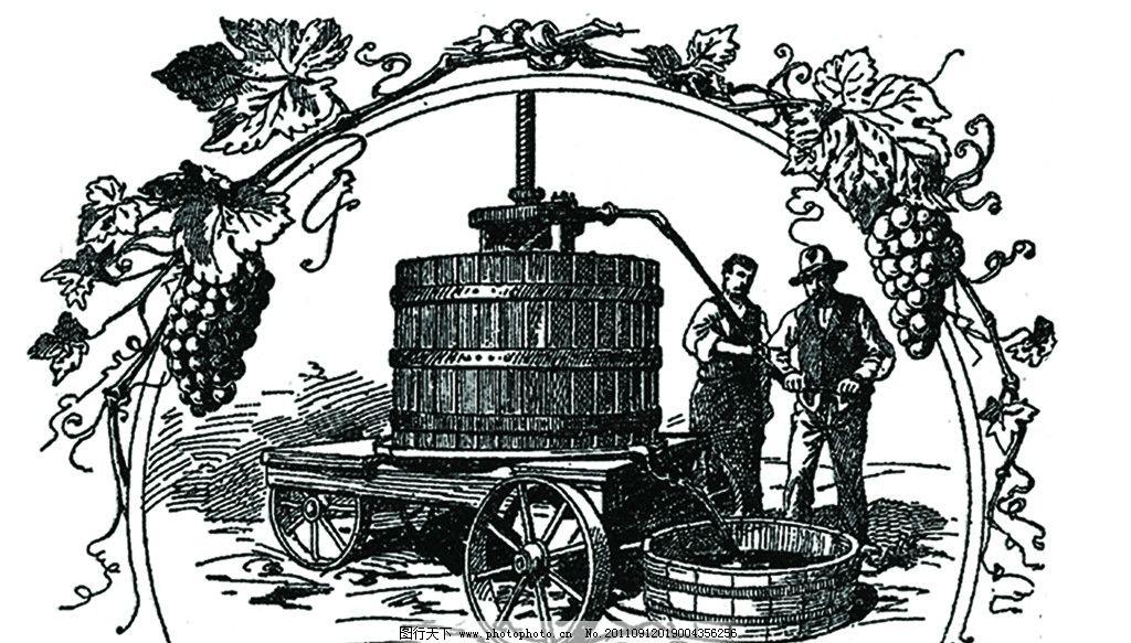 西方酿酒过程图示图片