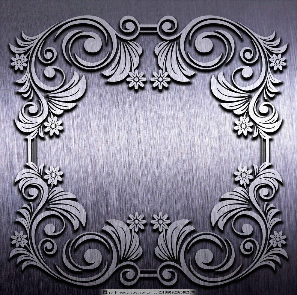 欧式银色花纹壁纸贴图