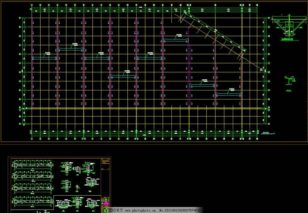 钢结构厂房吊车梁平面布置详图图片