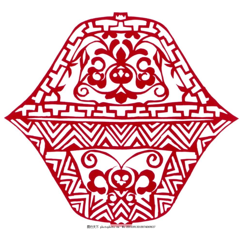 蜂纹扣碗剪纸 中国传统图案 吉祥图案 中国设计 中国图案 中国元素