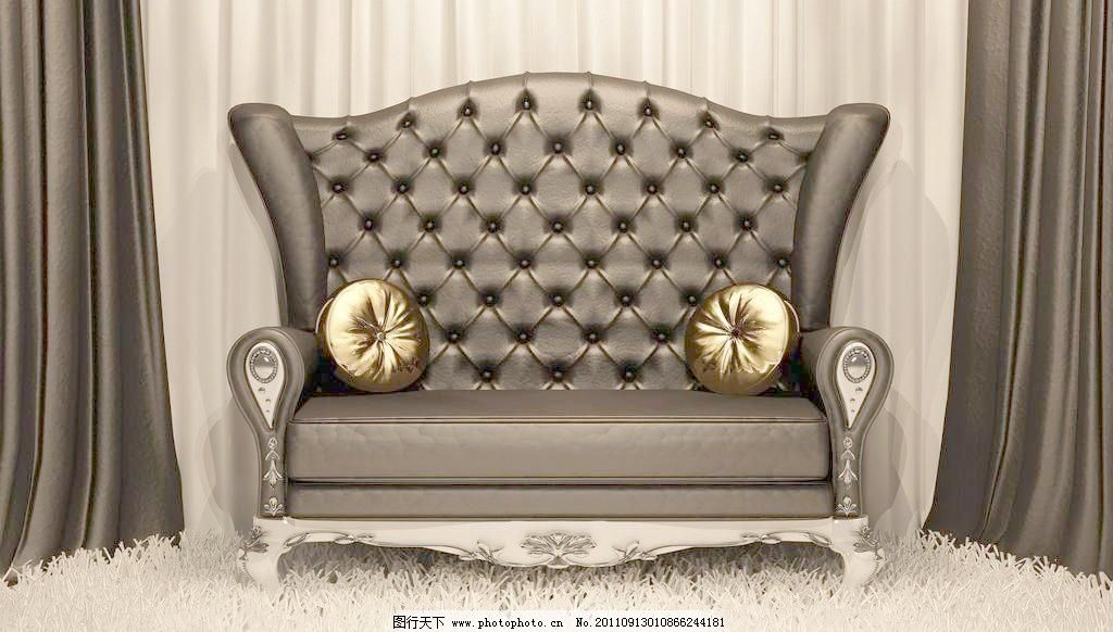 欧式真皮沙发图片