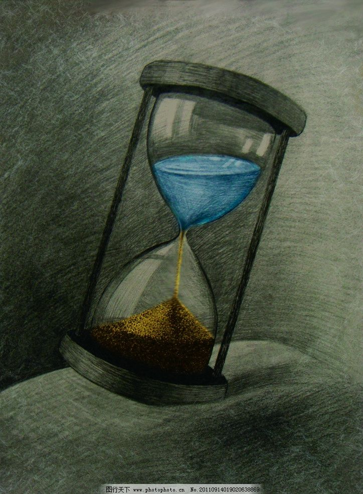 沙漏 设计素描 时间 环境 绘画书法 文化艺术 设计 300dpi jpg图片