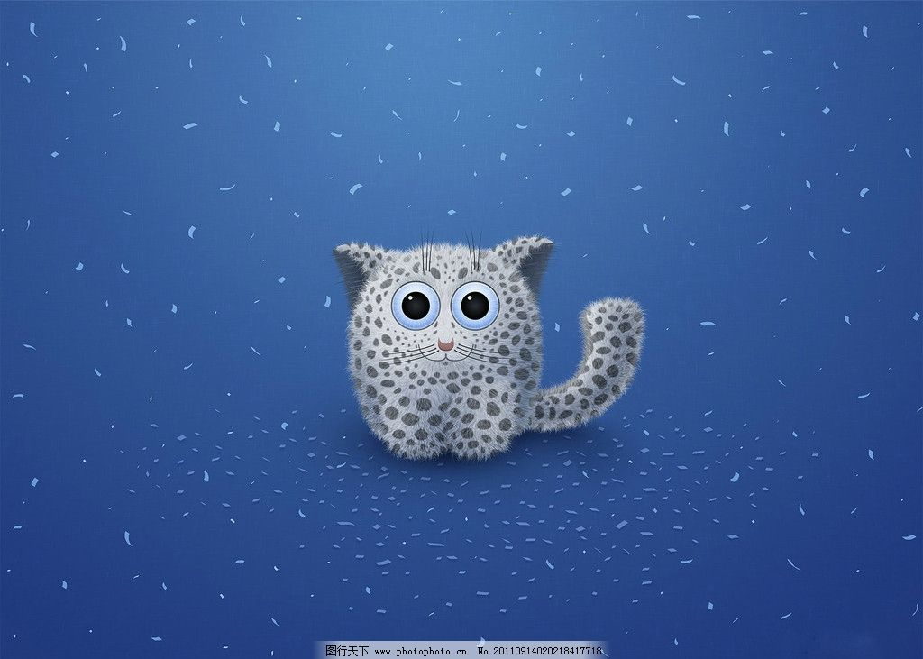 小动物 猫 背景底纹 底纹边框