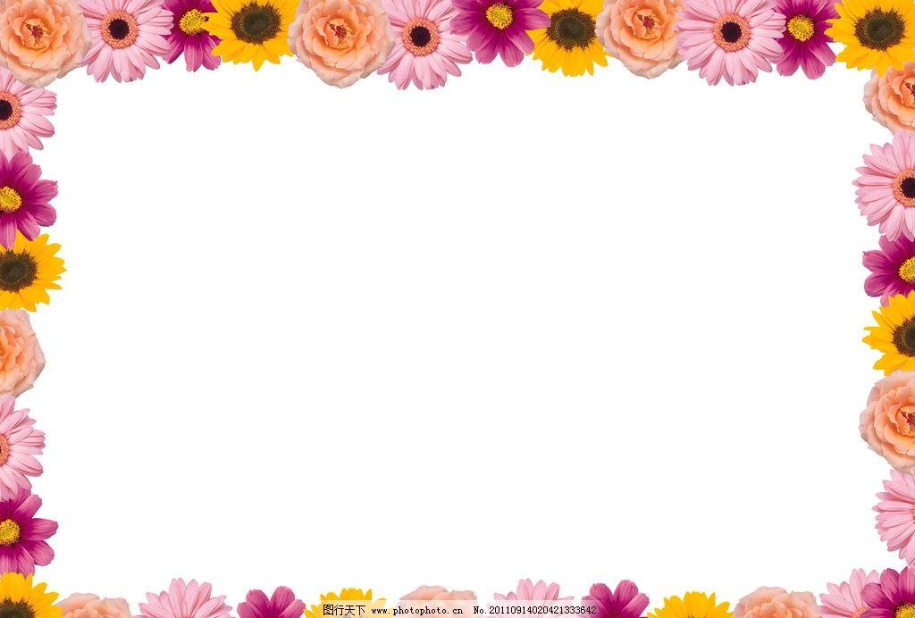 边框底纹 相框图 花边相框 方型相框 各种菊花组成的相框 边框相框