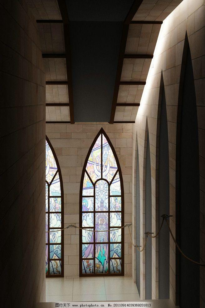 楼梯间 教堂 欧式 灯箱 游戏 室内摄影 建筑园林 摄影 72dpi jpg