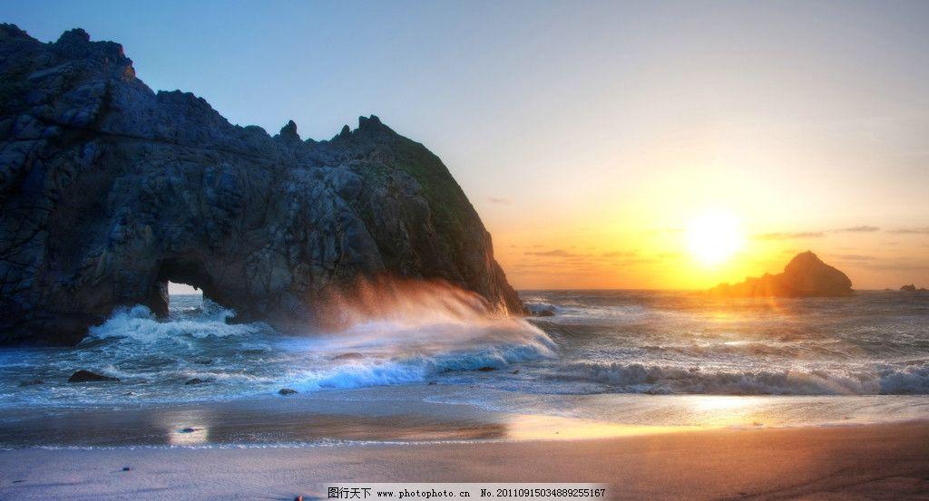 海边日出 日出 太阳 阳光 天空 海边 海岸 海滩 沙滩 大海 海岛 礁石