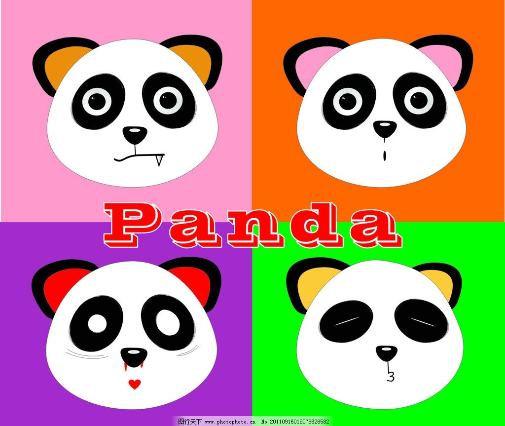 卡通熊猫 卡通 panda 功夫熊猫 国宝 美术绘画 文化艺术 矢量 cdr