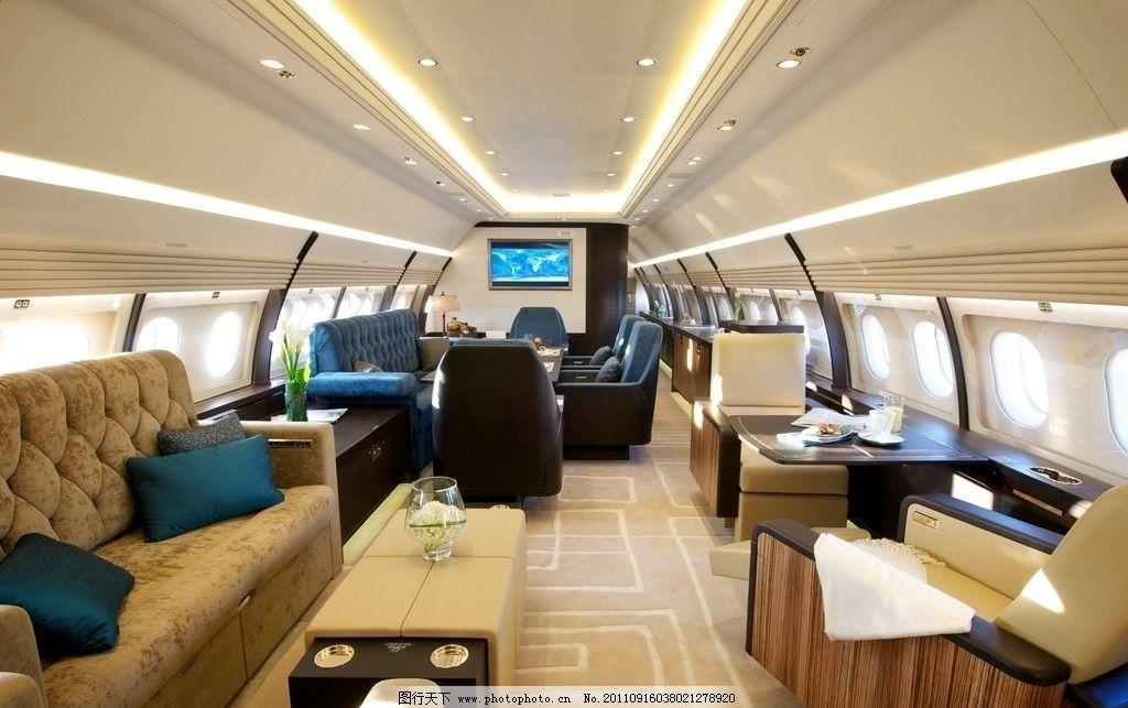 公务机内景 空客a320公务机 飞机内部 飞机 商务机 交通工具 现代科技