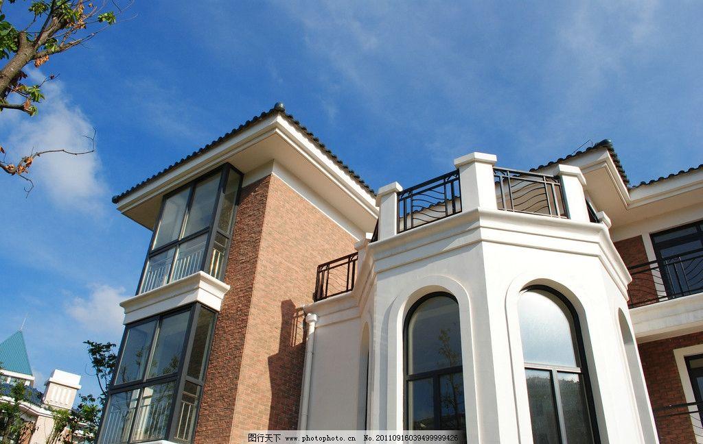 别墅 西班牙风格 西班牙建筑 大理石建筑 瓷砖 玻璃 粉彩外立面 欧式