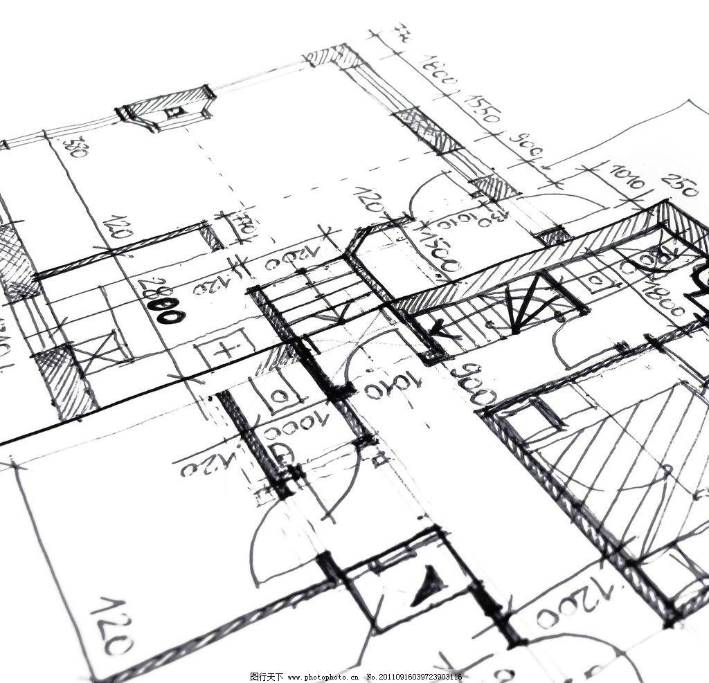 建筑设计 示意图 图纸 工程图 钢尺 圆规 设计图        建筑 房地产