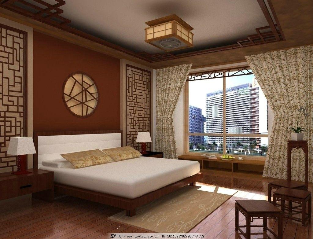 中式卧室图片图片