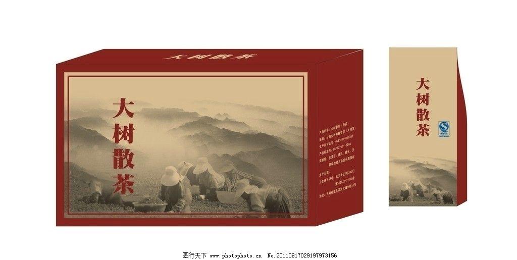 大树散茶 包装设计图片