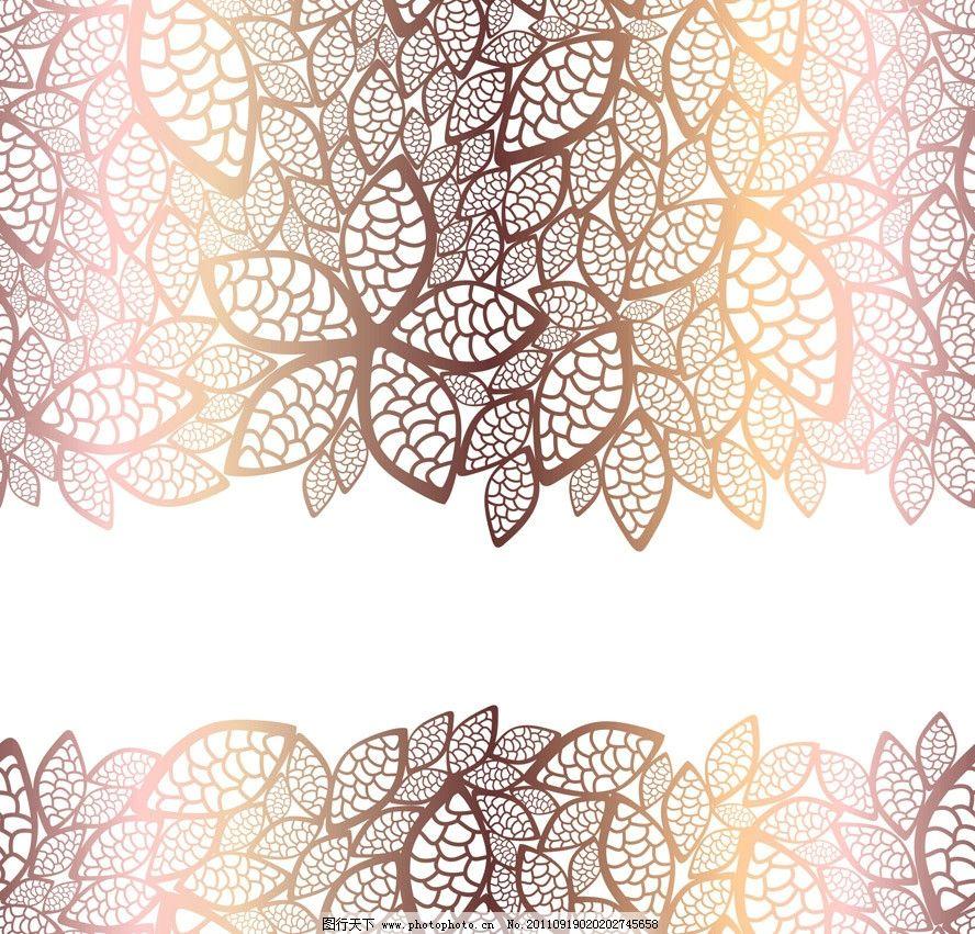 欧式 花纹 花朵 花卉 花边 背景 底纹 矢量 底纹背景 底纹边框 cdr