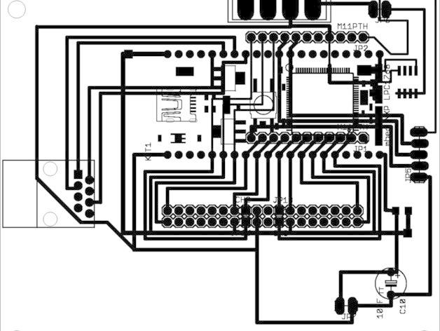 mbed 3d打印机的印刷电路板