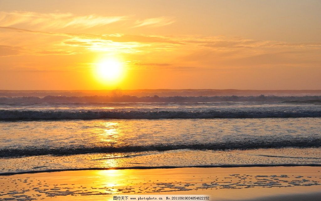 海上初升的太阳图片