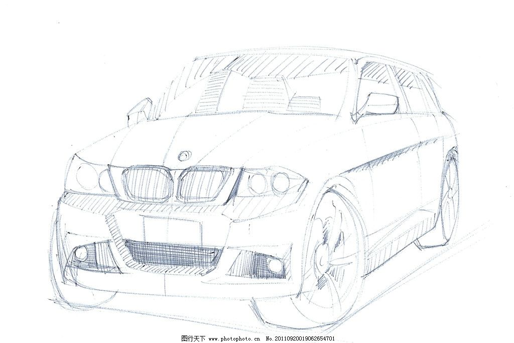 汽车手绘图片