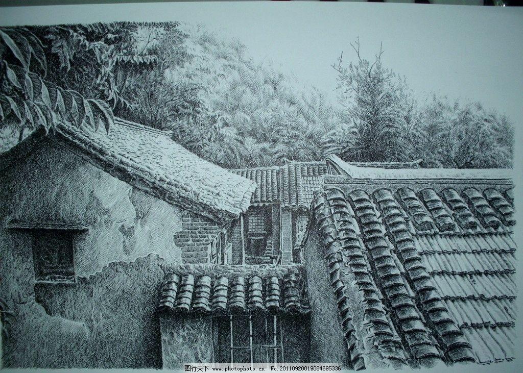 钢笔画绘画插画装饰画无框画线描书籍插画制版上海外滩浦东东方明珠