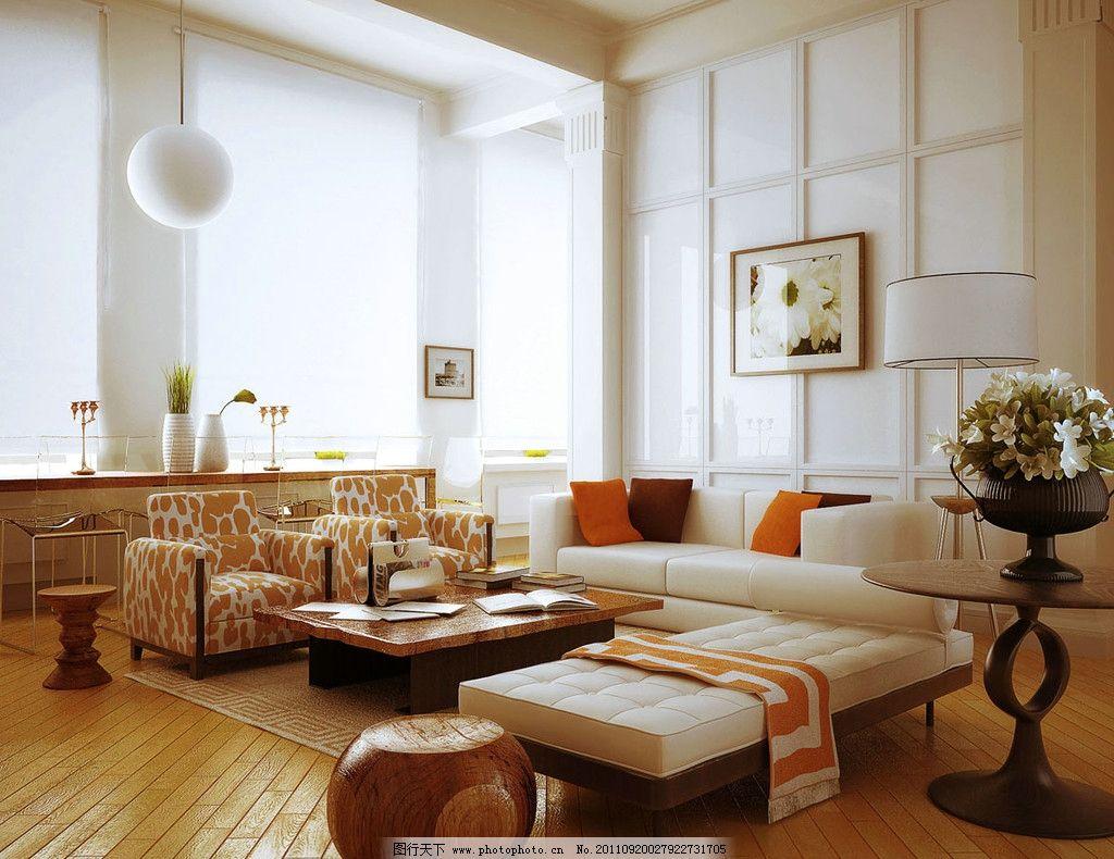 客厅效果图 地中海风格