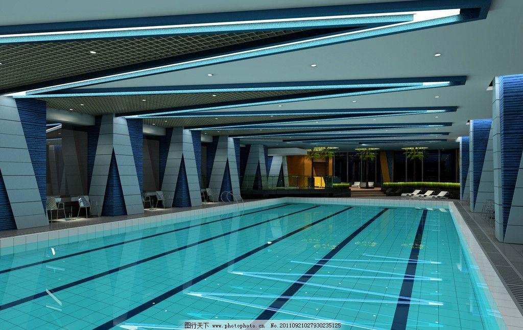 健身房游泳池 游池 游泳池 健身房 健身俱乐部 健身馆 室内设计 环境