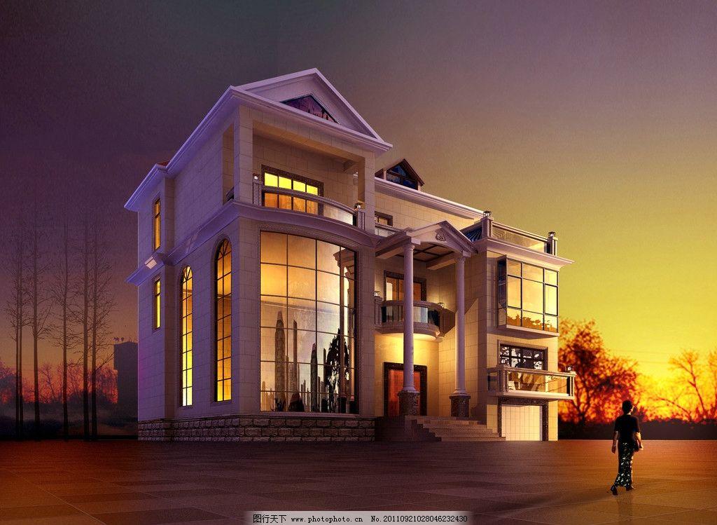 别墅小景 别墅 欧式建筑 园艺 阳台 商品房 小区 房产 地产 房地产 建
