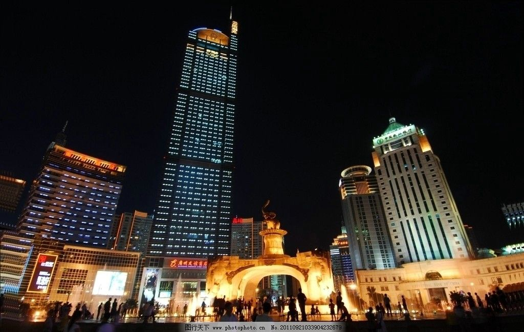 南宁五象广场夜景