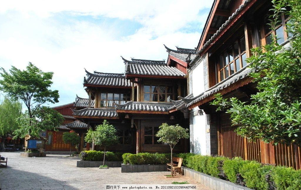 丽江古镇 中国建筑 旅游风景 云南 灯笼 古建筑 中国传统 木屋子