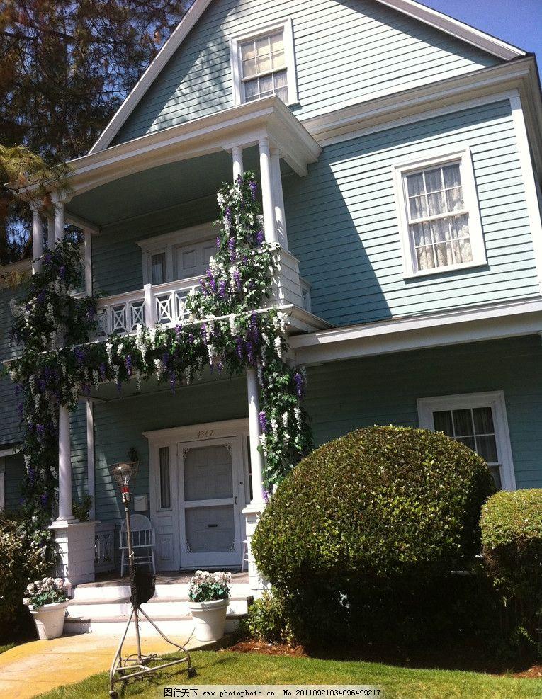 花园别墅 洋房 建筑 小楼 欧式建筑 小屋 屋子 摄影 美国旅游