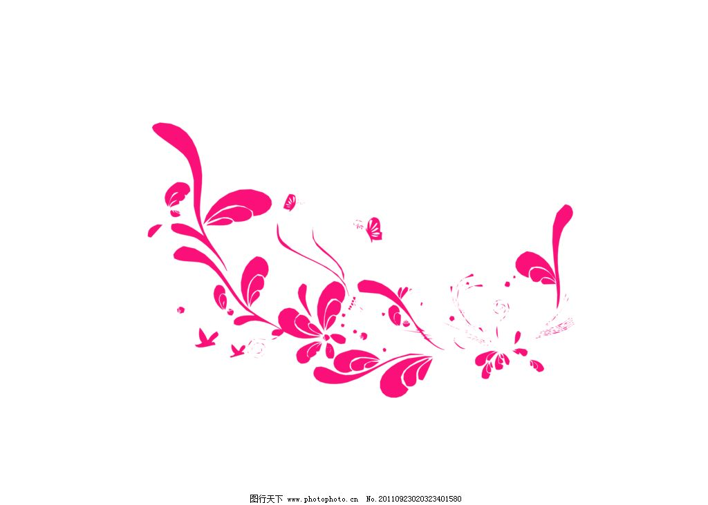 藤蔓 时尚花纹 蝴蝶 花边花纹