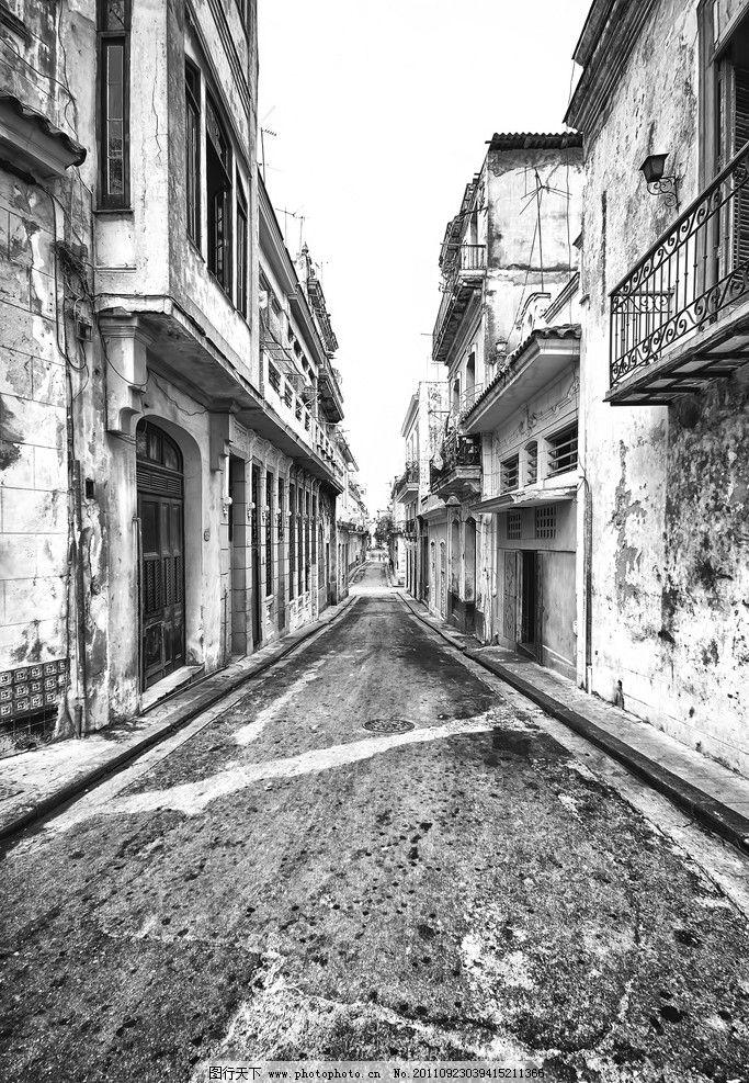 街道 欧式建筑 老照片 黑白照片 建筑摄影 建筑园林