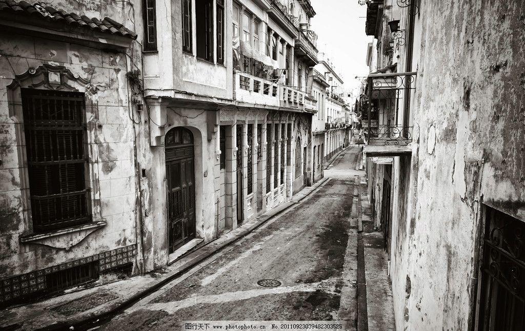 欧式建筑 老照片 黑白照片 街道 建筑摄影 建筑园林
