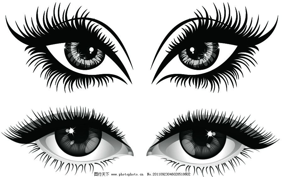 漂亮的卡通眼睛笔刷_动物笔刷_ps笔刷_图行天下图库