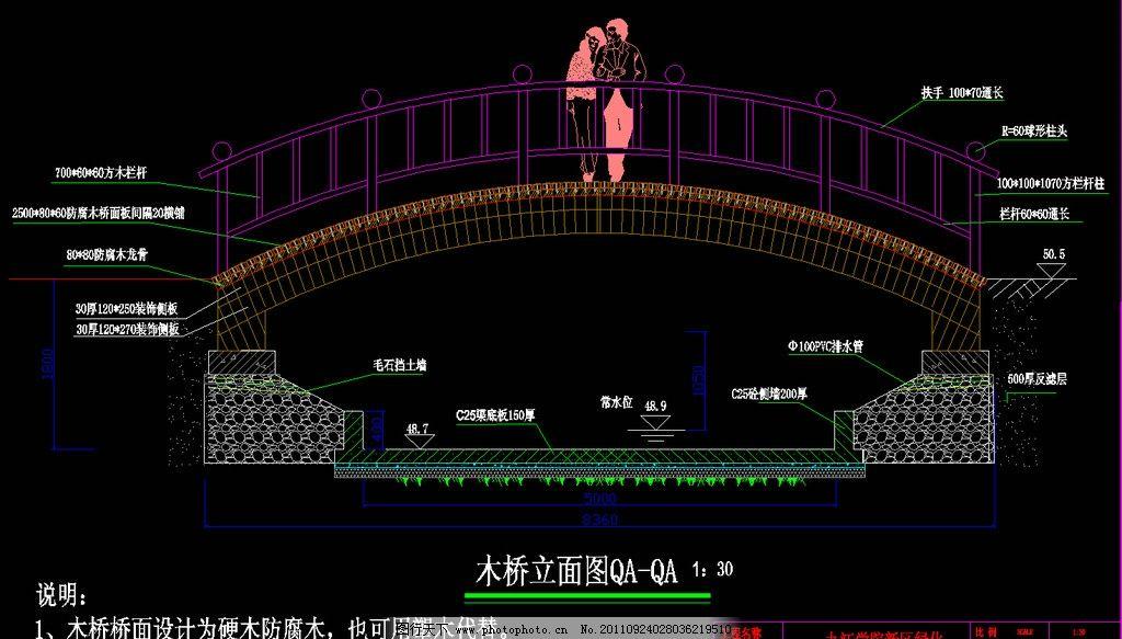 木桥立面图图片_建筑设计