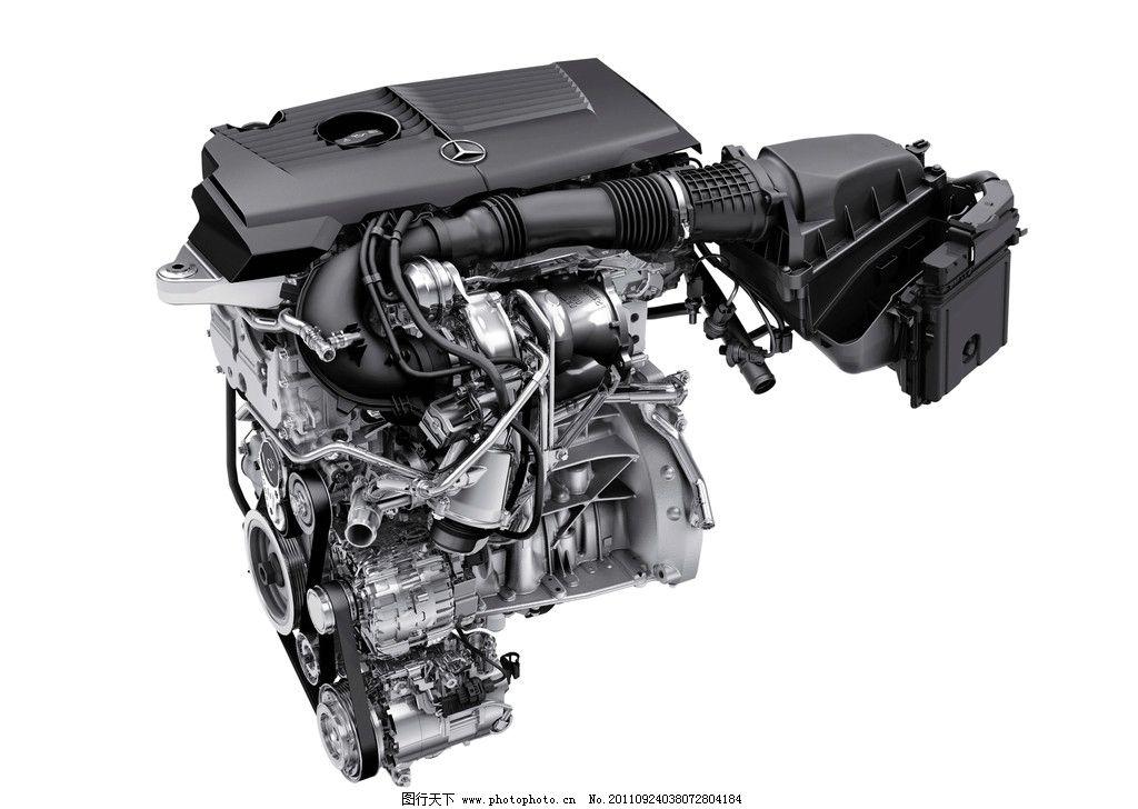奔驰发动机特写 发动机 机械 部件 零件 引擎 油箱 汽车 拖拉机 涡轮