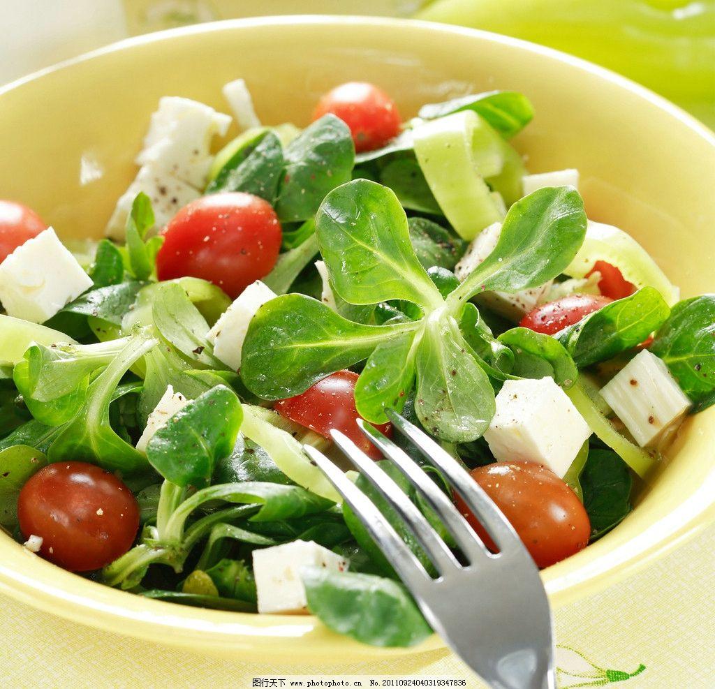 蔬菜沙拉 沙拉 青菜 菜叶 包菜 萝卜 洋葱 蔬菜 绿色健康 绿色食品 健康美食 美食主题 餐饮美食 西餐美食 摄影 300DPI JPG