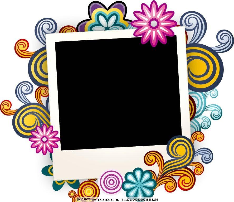 时尚 潮流 梦幻 古典 欧式 手绘 花纹 花朵 花卉 底版 相框 可爱 背景