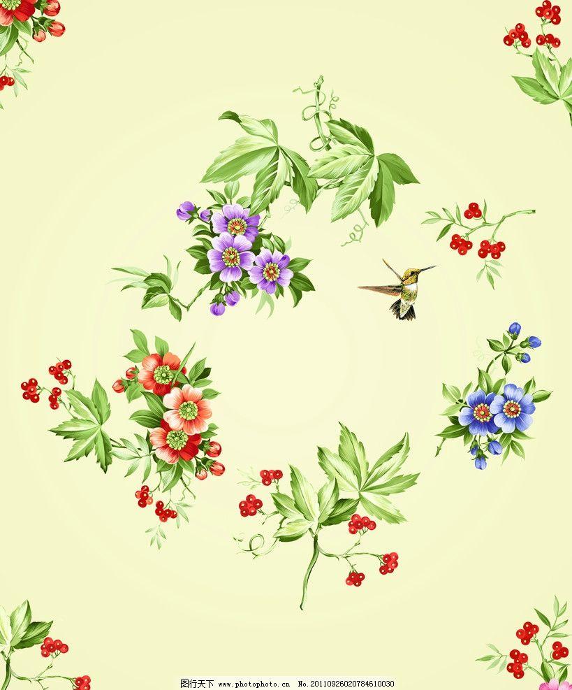 红花 蓝花 韩国花纹 花纹 移门 帝歌3 移门图案 底纹边框 设计 72dpi