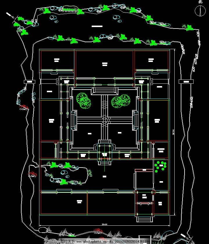 环境设计 建筑设计  四合院总平面图 四合院 古建 仿古 古典建筑 民居