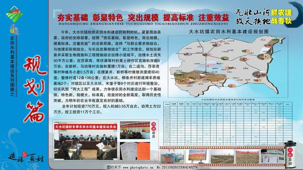 乡镇农业发展展板规划篇图片