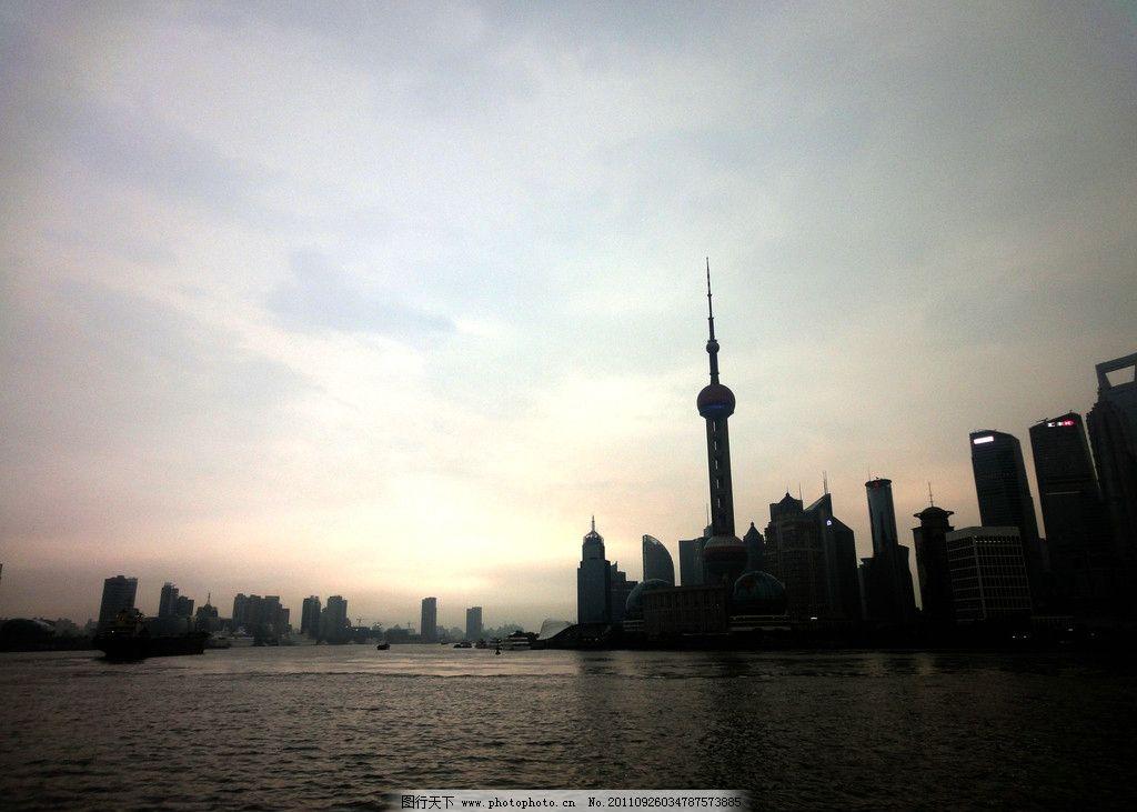 夜上海 外滩 摄影 东方 明珠 电视塔 风光 夕阳 黄浦 江 河 建筑景观