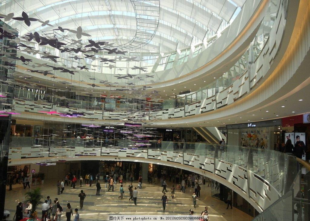 商场 高级商场 楼梯 弧形 中庭 卖场 室内摄影 建筑园林
