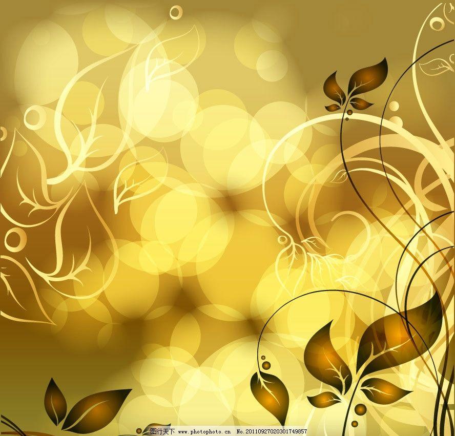 金色梦幻欧式背景